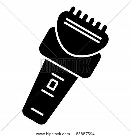 Electric razor vector icon. Black razor illustration on white background. Solid linear icon. eps 10