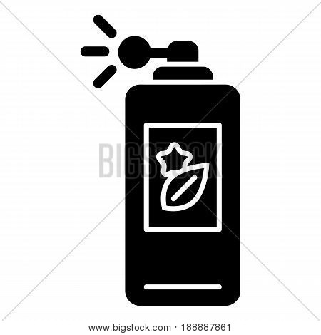 parfume vector icon. Black body spray illustration on white background. Solid linear beauty and care icon. eps 10