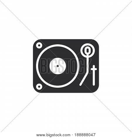 Dj Vinyl Turntable Icon Vector, Filled Flat Sign, Solid Pictogram Isolated On White, Logo Illustrati