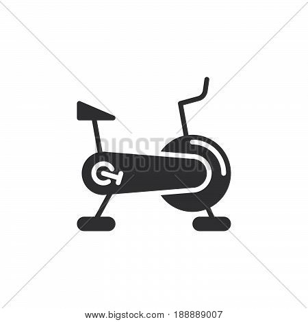 Stationary Bicycle, Exercise Bike Icon Vector, Filled Flat Sign, Solid Pictogram Isolated On White,