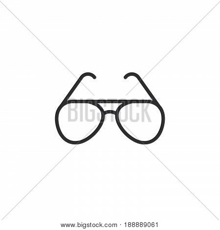 Sunglasses Line Icon, Sun Glasses Outline Vector Sign, Linear Pictogram Isolated On White. Logo Illu