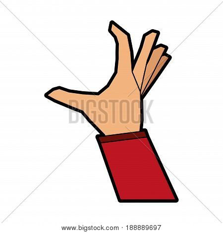 hand doing grabbing gesture icon image vector illustration design