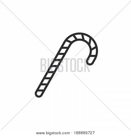 Candy Cane Line Icon, Peppermint Stick Outline Vector Sign, Linear Pictogram Isolated On White. Logo