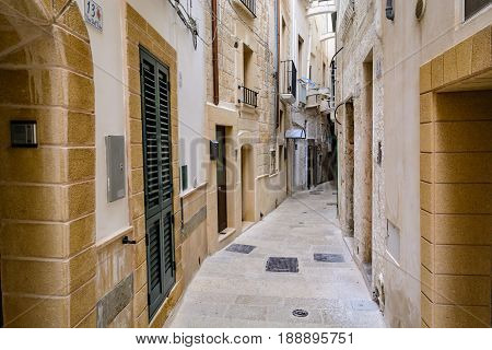 A Narrow Alley In Monopoli, Puglia, Italy