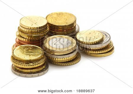 coins on white background 2