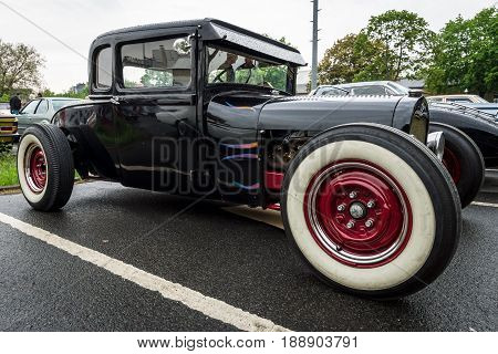 BERLIN - MAY 13 2017: Hot rod based on the Ford Model T. Exhibition