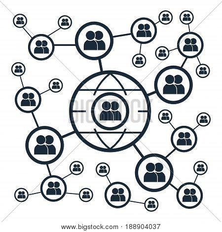 Global social media people network.Vector illustration business technology marketing concept.