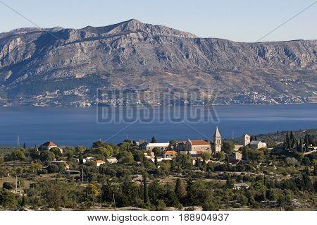 Village Skrip on Brac island in Croatia
