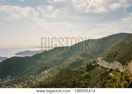 Scenic View Of The Mediterranean Coastline