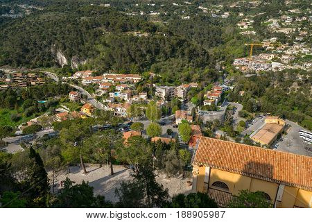 Scenic View From The Town Of Eze