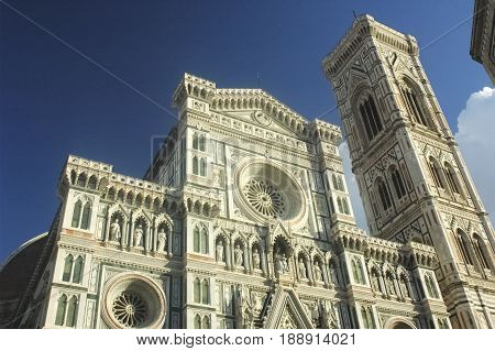 View of the frontage of the Florence cathedral