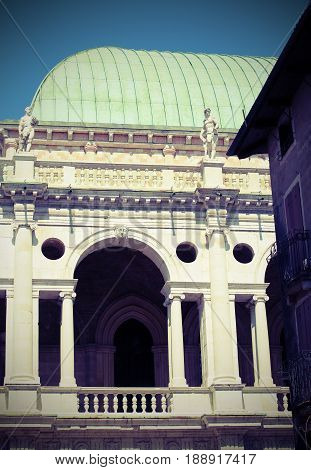 Historical Monument Called Basilica Palladiana In Vicenza City I