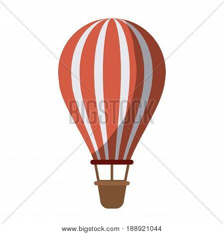 colorful silhouette of hot air balloon without contour and shading vector illustration