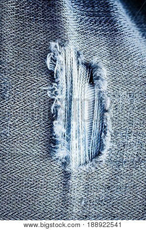 Old Jeans Background Texture,vintage Torn.