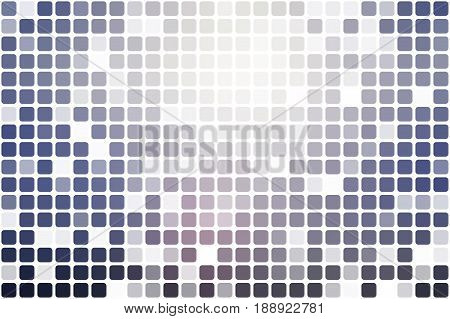 Pale pink blue occasional opacity vector square tiles mosaic over white background