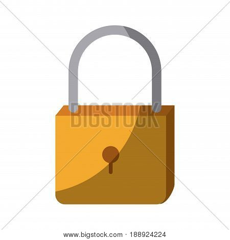 colorful silhouette of padlock icon without contour and shading vector illustration