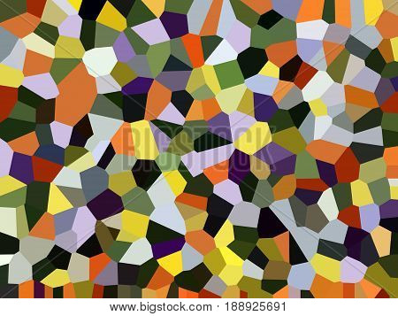 Abstract pattern of colorful polygonal geometric shapes