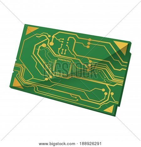 Microchip circuit technology icon vector illustration graphic design