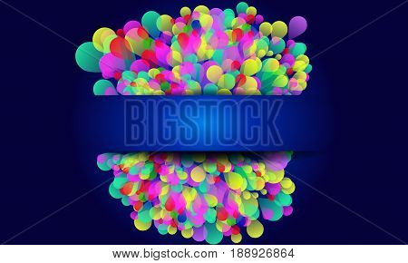 Colorful Abstract background with balloons on blue background