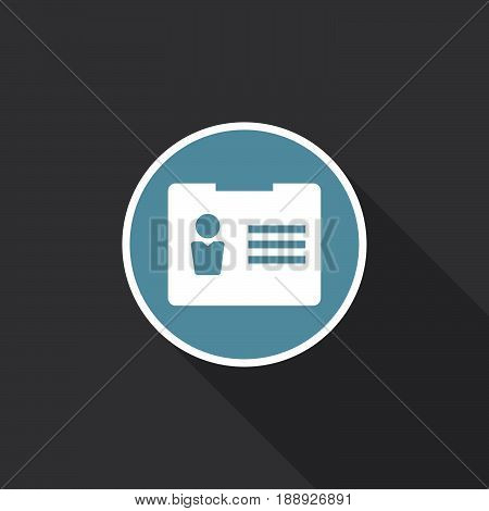 account icon vector isolated on black .