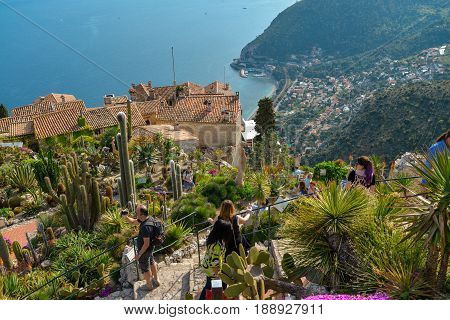 View From The Exotique Garden In Eze