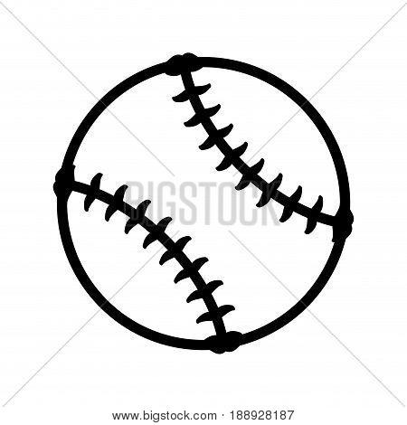 Baseball ball isolated icon vector illustration graphic design