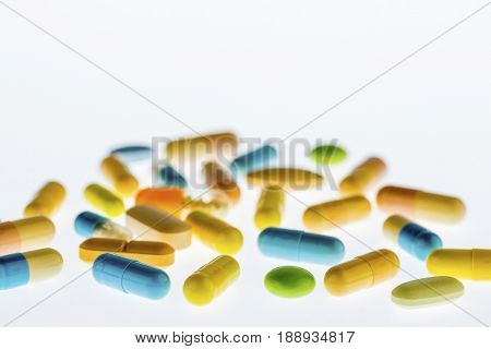 tablets on a light background