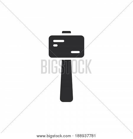 Wooden mallet icon vector filled flat sign solid pictogram isolated on white. Symbol logo illustration. Pixel perfect