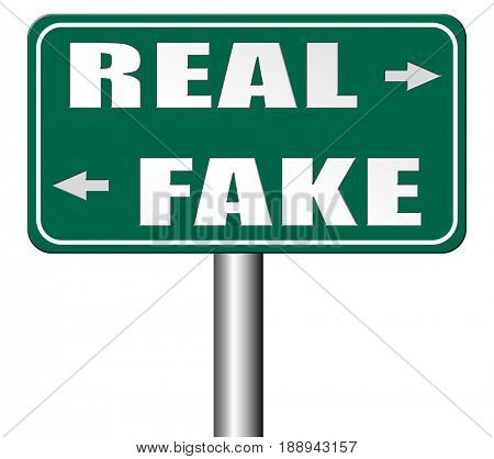 fake or real being in doubt and suspicious critical thinking possible or impossible reality check searching truth being skeptic skepticism 3D, illustration