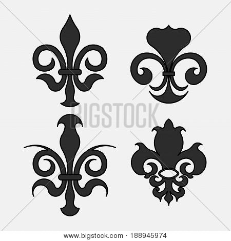 Fleur-de-lis the heraldic symbol of royal lily symbols for design royal colors fully editable vector image