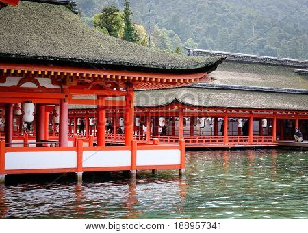 Itsukushima Shrine In Hiroshima, Japan