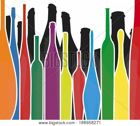 Wine background vector.Bottle of alcohol illustration.Design for wine.Alcohol vector background..Template for drink card.