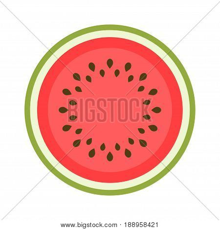 icon of a sweet watermelon isolated on white