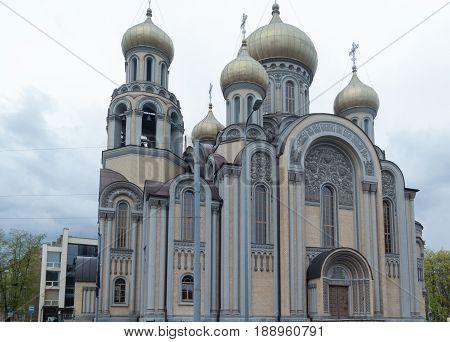 one verry beutiful church in Vilnius a town in Litauen