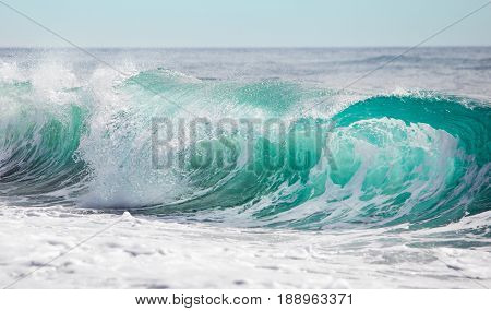 Big ocean wave at the Mediterranean Sea