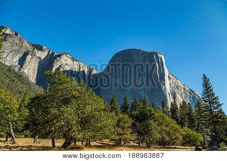 El Capitan (Spanish for The Captain The Chief) is a vertical rock formation in Yosemite National Park located on the north side of Yosemite Valley near its western end.