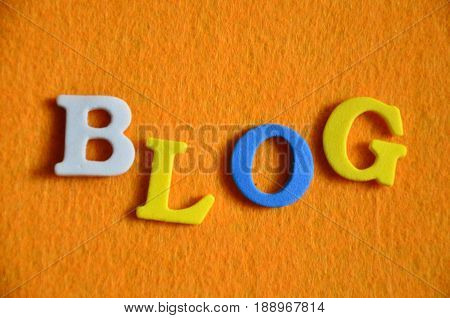 word blog on a  abstract colo0rful background