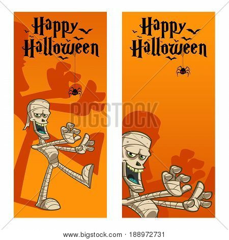 Funny mummy, to celebrate Halloween day, vector illustration