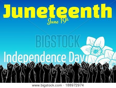 Juneteenth, African-american Independence Day, June 19. Day Of Freedom And Emancipation