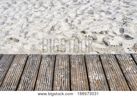 Boardwalk on the beach of the Baltic Sea