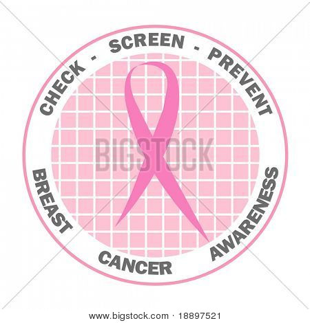 Pink ribbon design for Breast Cancer Awareness
