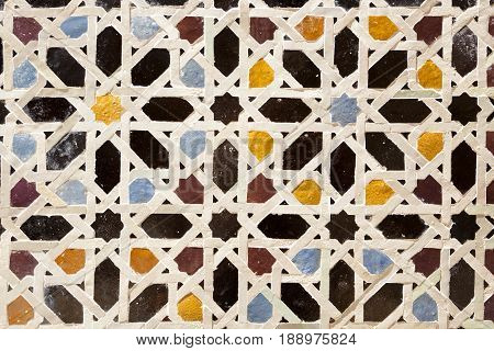 Mosic in a Mosque of Fez. Morocco