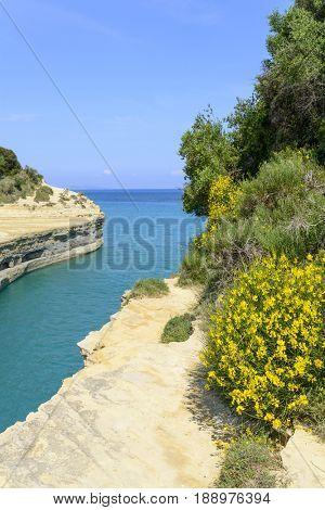 Canal d'amour in Sidari - Corfu island in Greece