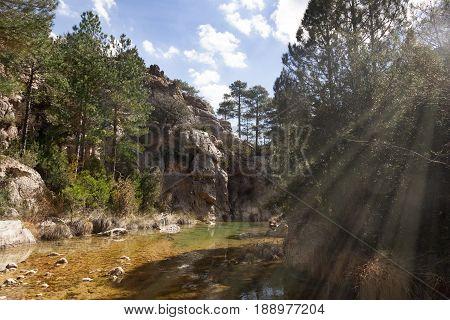 Ulldemo river in Beceite. Teruel province. Spain