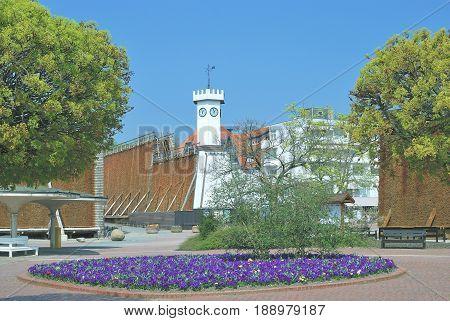 Graduation Tower in Health Resort of Bad Salzuflen,North Rhine Westphalia,Germany