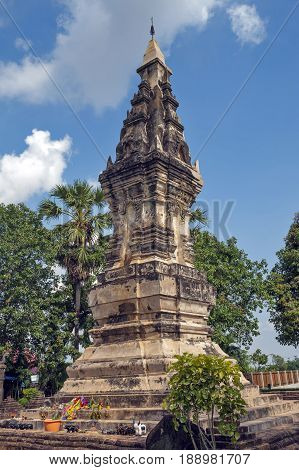 Phra That Kong Khao Noi, Ancient Stupa Or Chedi That Enshrines Holy Buddha Relics Located In Yasotho