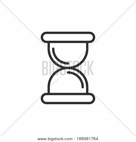 Hourglass sandglass line icon outline vector sign linear style pictogram isolated on white. Symbol logo illustration. Editable stroke. Pixel perfect