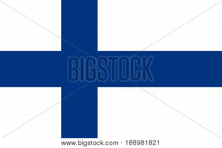 Flag of Finland, vector illustration official symbol of the state