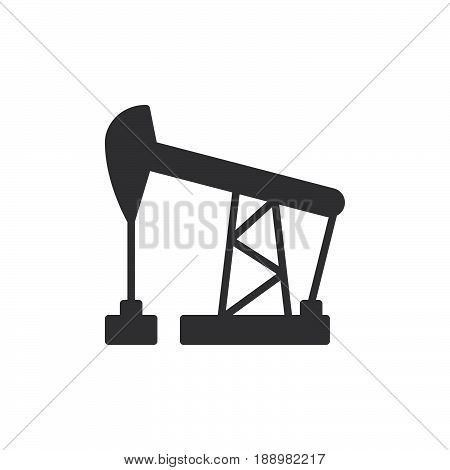 Oil pump jack icon vector filled flat sign solid pictogram isolated on white. Symbol logo illustration. Pixel perfect