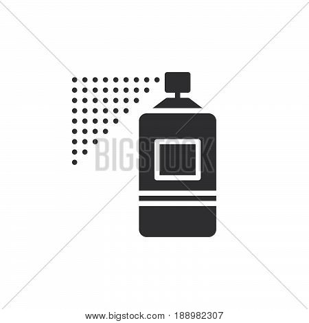 Spray can icon vector filled flat sign solid pictogram isolated on white. Symbol logo illustration. Pixel perfect